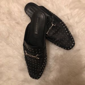 Black Studs loafers